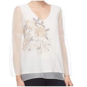 Chenault Floral embroidered Top PXL